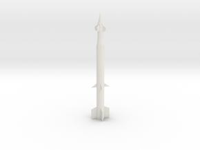 1/144 Scale Spartan Missile in White Natural Versatile Plastic