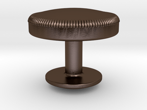Simple Cufflinks in Polished Bronze Steel