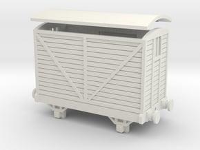 OO9 Brake Van - Corris/Talyllyn (W/ Buffers) in White Natural Versatile Plastic
