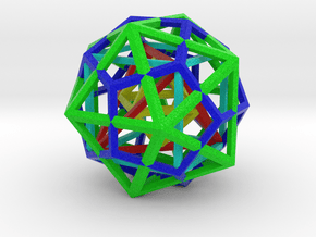 Nested Platonic solids, color, octahedron center in Natural Full Color Sandstone
