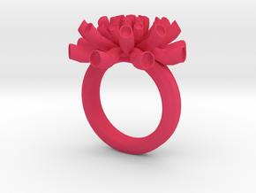 Sea Anemone ring 17mm in Pink Processed Versatile Plastic