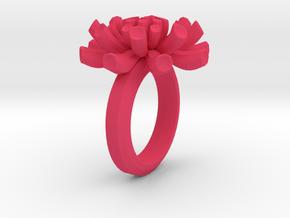 Sea Anemone Ring17.5mm in Pink Processed Versatile Plastic