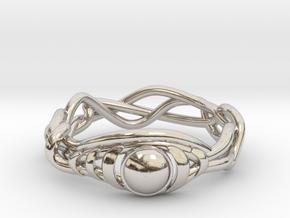 Eyevy in Rhodium Plated Brass: 6 / 51.5