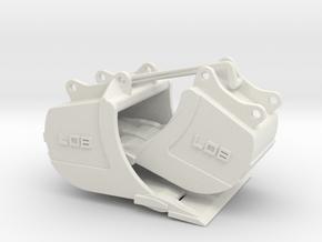 QC80 Tieflöffelset 4 mit Schneide / bucket set 4 w in White Natural Versatile Plastic: 1:50