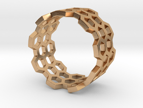 Honeycomb Ring_B in Polished Bronze: 8 / 56.75