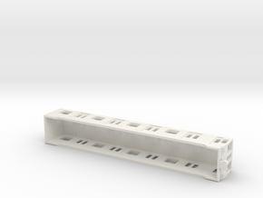 Carcasa S5000 Metro Madrid Subway H0 in White Natural Versatile Plastic