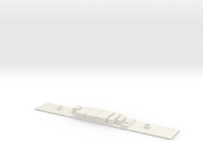 Chasis A S5000 Metro Madrid Subway H0 in White Natural Versatile Plastic