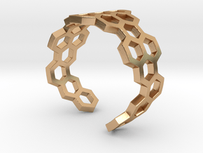 Honeycomb Ring_C in Polished Bronze: 8 / 56.75