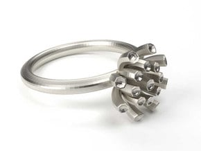 Sea Anemone small 16.5mm in Polished Silver