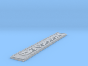 Nameplate HMS Cumberland in Smoothest Fine Detail Plastic