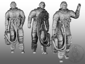 """APOLLO CREW """"Bye Bye Earth """"  in Smoothest Fine Detail Plastic: 1:48 - O"""