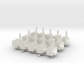 1/285 Scale Industrial Complex (x15) in White Natural Versatile Plastic