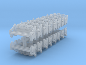 Park Bench (x16) 1/160 in Smooth Fine Detail Plastic