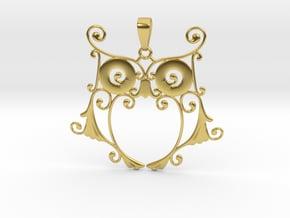 Owl Dreams in Polished Brass