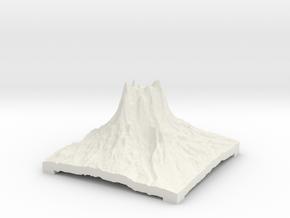 Mountain 3 in White Natural Versatile Plastic: Small