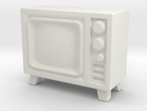 Old Television 1/48 in White Natural Versatile Plastic