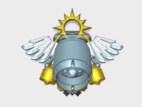 Angel Wing - Gryphus Jetpacks (PM) in Smooth Fine Detail Plastic: Small