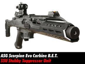 Stubby PDW Suppressor - Scorpion Evo BET Carbine in Black Natural Versatile Plastic