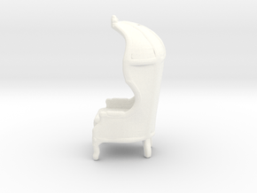 """Armchair Roof 1/4"""" Scaled in White Processed Versatile Plastic: 1:48 - O"""