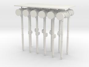 Space Knights Round Head Power Hammer in White Natural Versatile Plastic