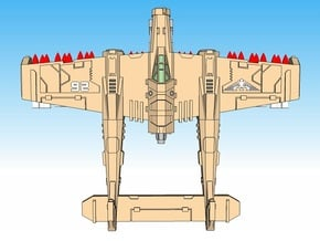 6mm Lightning Bolt Heavy Fighters (4pcs) in Smooth Fine Detail Plastic
