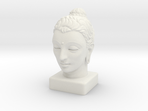 Gandhara Buddha 15 inches in White Natural Versatile Plastic