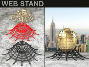 WEB STAND for the Spider (also EGG) Geek Ring Box in Black Natural Versatile Plastic