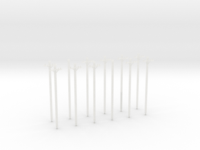 N-Scale Transmission Poles (10-Pack) in Smooth Fine Detail Plastic
