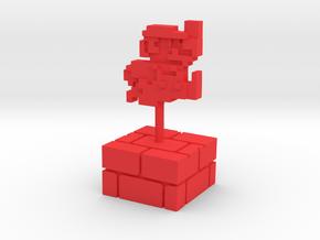 PixFig: Mario 4''  in Red Processed Versatile Plastic