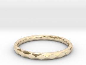 Diamond Check Ring in 14k Gold Plated Brass: 8 / 56.75