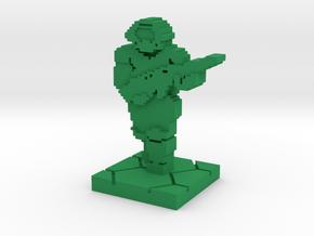PixFig: Doom - Space Marine 4'' in Green Processed Versatile Plastic