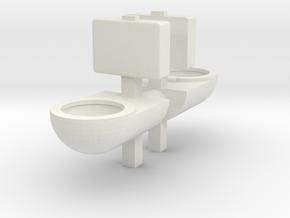 Prison Toilet (x2) 1/48 in White Natural Versatile Plastic