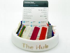 The Rotating Hub - Material Sample Stand in White Natural Versatile Plastic
