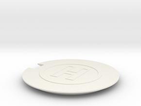 Helipad 1/72 in White Natural Versatile Plastic