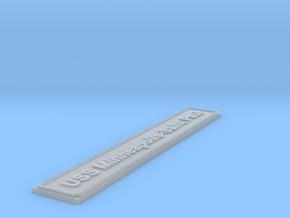 Nameplate USS Minneapolis-Saint Paul in Smoothest Fine Detail Plastic