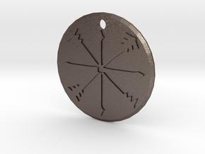 Kord Symbol in Polished Bronzed Silver Steel