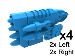 Gunslinger Rocket Launchers in Smooth Fine Detail Plastic