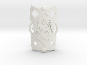 Red Knight Shield in White Natural Versatile Plastic