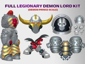 Iron Heads : Legionary Demon Lord Kit 1 in Smooth Fine Detail Plastic