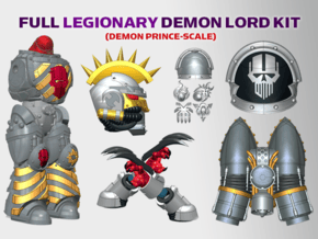 Iron Heads : Legionary Demon Lord Kit 2 in Smooth Fine Detail Plastic