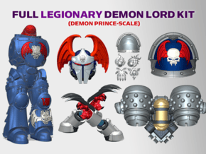 Nighhtmare : Legionary Demon Lord Kit 2 in Smooth Fine Detail Plastic