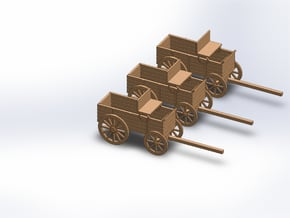 N THREE FREIGHT WAGON in Smooth Fine Detail Plastic