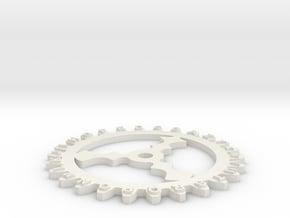 Enigma wheel 2 in White Natural Versatile Plastic