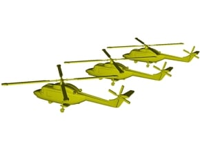1/220 scale Westland Lynx Mk 95 helicopters x 3 in Smoothest Fine Detail Plastic