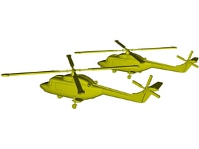 1/220 scale Westland Lynx Mk 95 helicopters x 2 in Smoothest Fine Detail Plastic