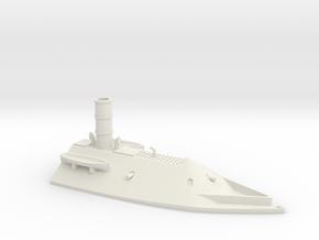 1/350 CSS Virginia Casemate Front in White Natural Versatile Plastic