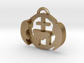 Altar - Pendant in Polished Gold Steel