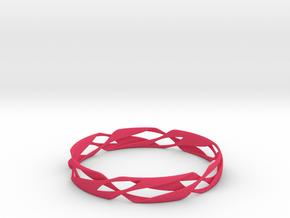 Stripes Bangle 2 in Pink Processed Versatile Plastic