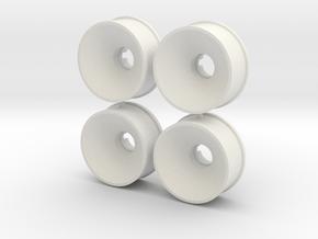 4erSet19erFelgen3 in White Natural Versatile Plastic