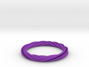 Twist and Flip Bangle in Purple Processed Versatile Plastic
